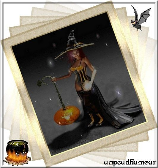 une de mes crations cadre halloween